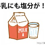 牛乳 塩分