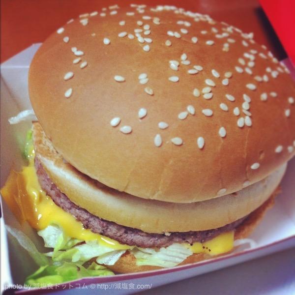 ハンバーガー 塩分
