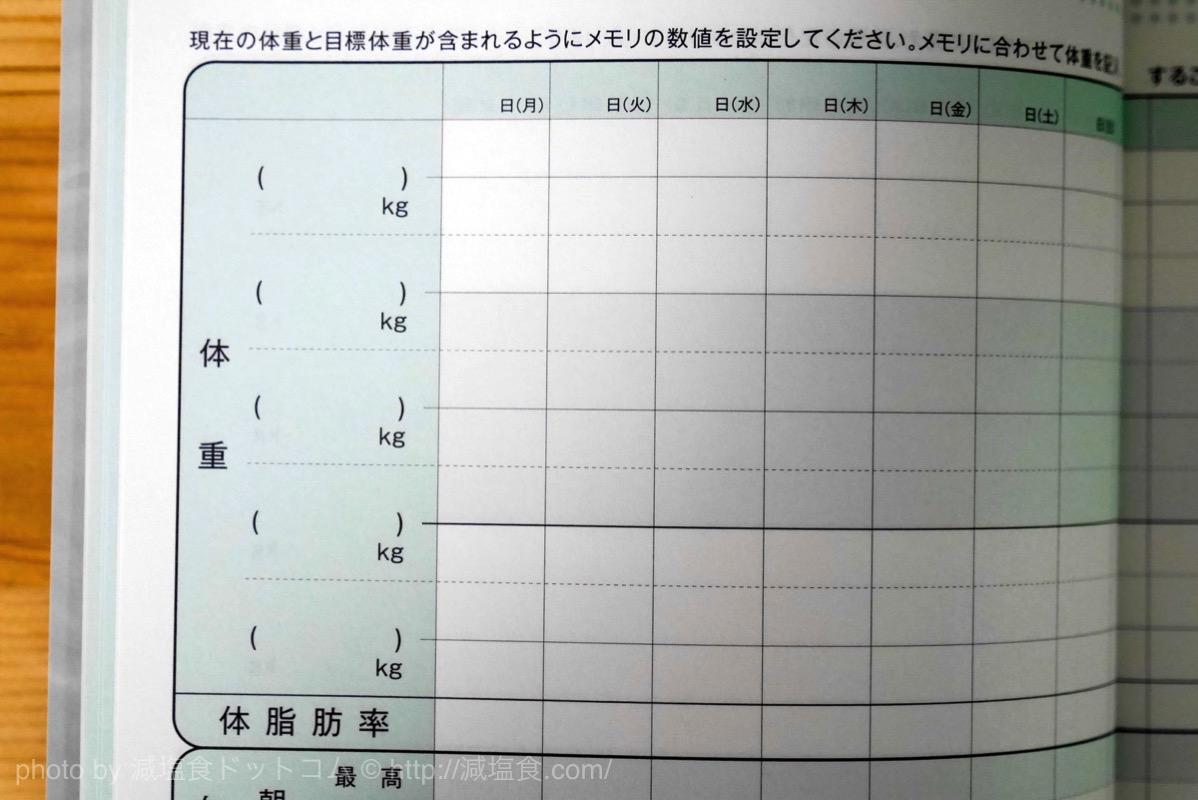 ダイエット ノート 記録